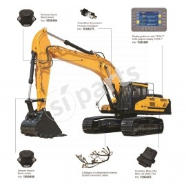 "Excavator weighing system by TERA 7"" LINE HMI with angle sensors"
